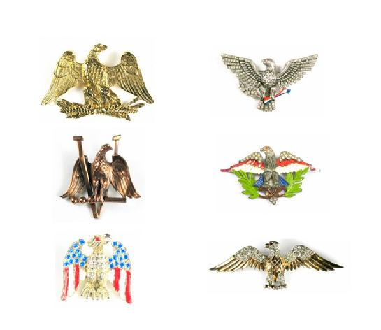 Eagle pins collage