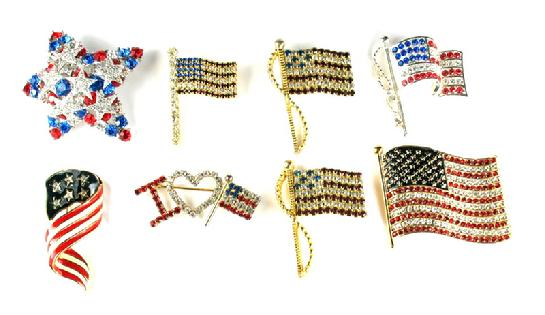 Flag Patriotic Pins